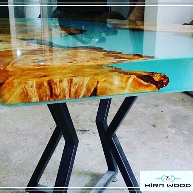 Transpa Epoxy Dining Table We Love The Details Dekorasyon Yemekodası Console