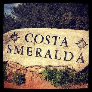 Rock announcing you are entering the Costa Smeralda