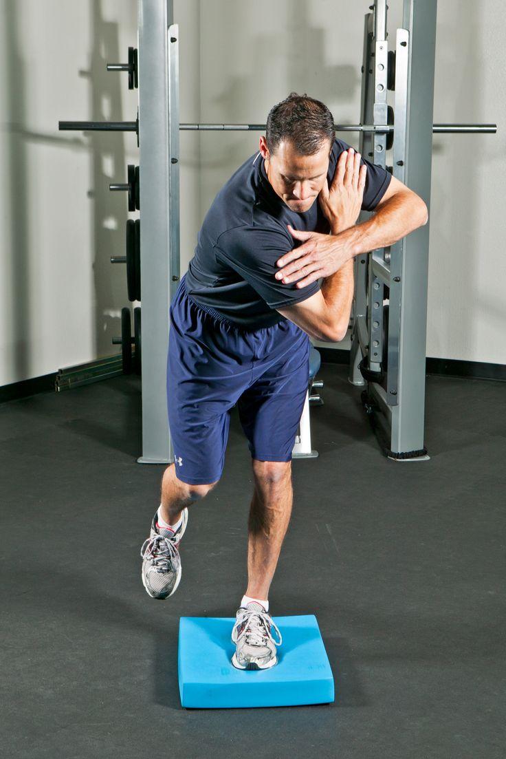 Address Position Single Leg Rotations On Balance Pad A