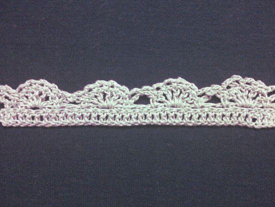 Puntilla N°37 en tejido a crochet