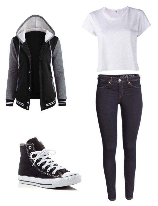 """""""My rule, my dress"""" by ophelierose on Polyvore featuring mode, H&M, Converse et RE/DONE"""