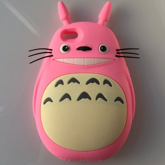 totoro pink case anime material phone case kawaii anime accessories ...