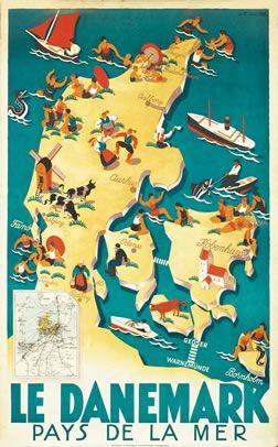 Danish Vintage Poster  internationalposter.com