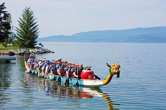 Montana Dragon Boat Festival, Flathead Lake Lodge in Bigfork