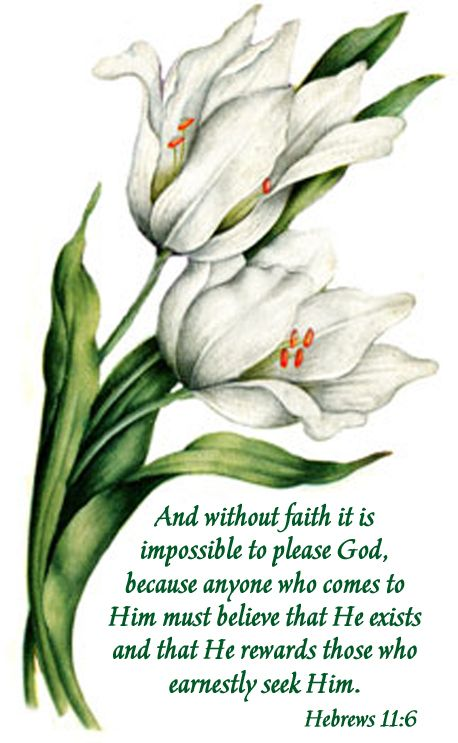 Hebrews 11:6..faithfully believing in the existence of our grand creator and loving Jehovah♥