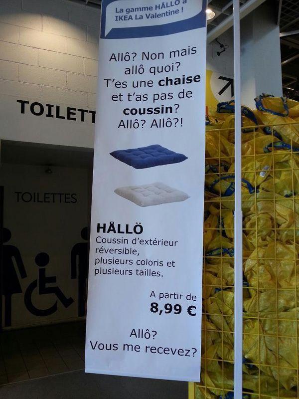 «HALLÖ», IKEA s'empare du buzz Nabila pour vendre ses coussins | golem13 |