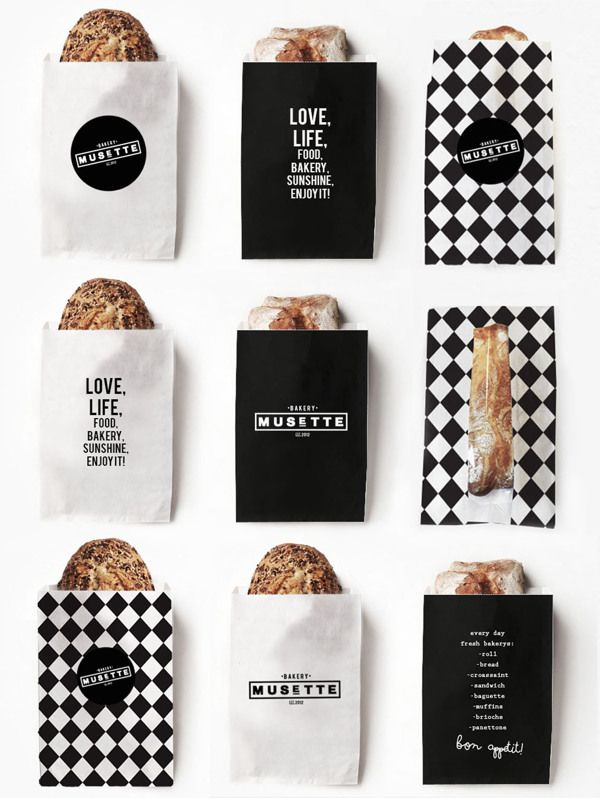 This would be perfect for single orders and have Czech proverbs printed on them http://www.brandingserved.com/gallery/MUSETTE-bakery/17237297