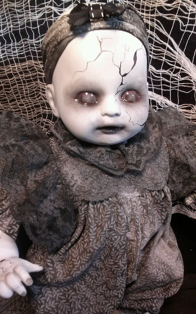 Baby Grace, Creepy OOAK Reborn,Horror, gothic Doll | eBay