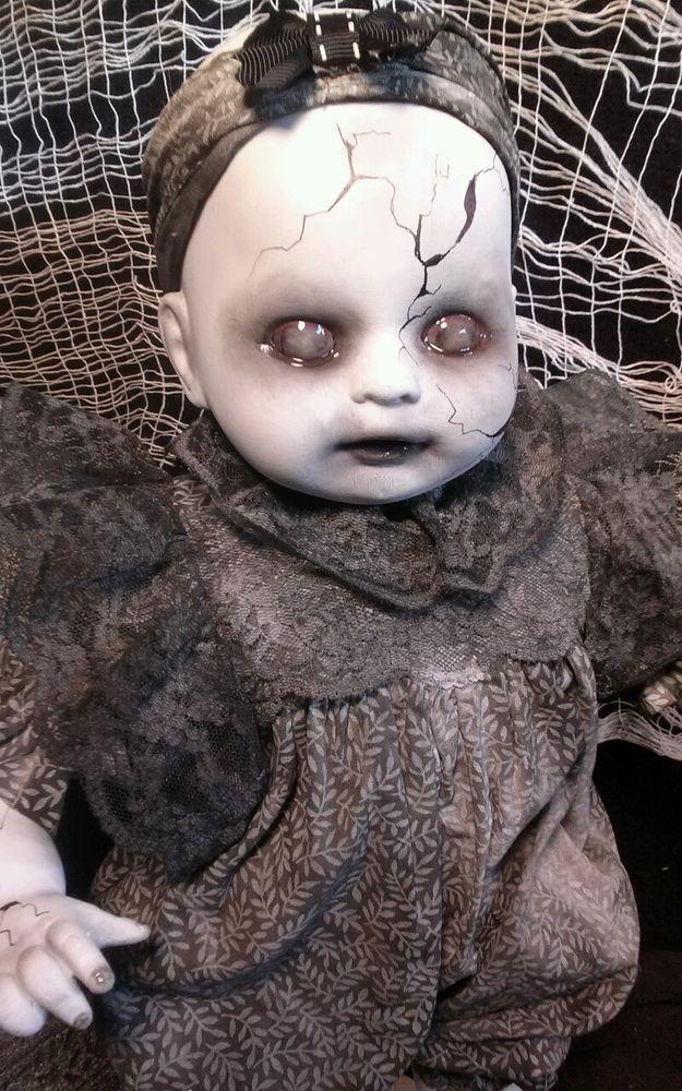Baby Grace, Creepy OOAK Reborn,Horror, gothic Doll | eBay