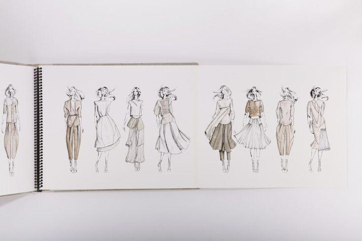Fashion Sketchbook - fashion design drawings; fashion sketches; fashion student portfolio // Elise Devery