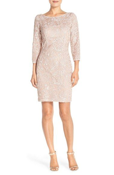 Aidan Mattox Soutache Mesh Sheath Dress available at #Nordstrom