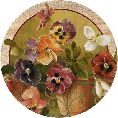 Thirstystone Pansies Coaster