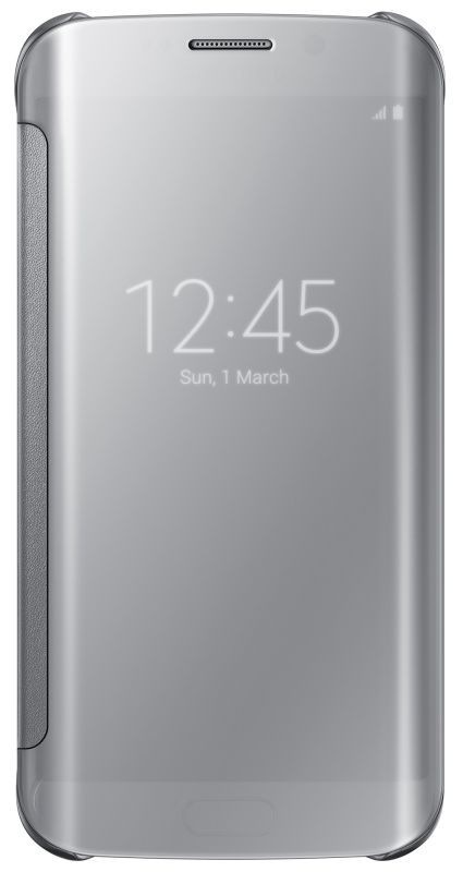Samsung Clear View Case suits Samsung Galaxy S6 Edge - Silver - This case is a smart innovation of the flip cover. The flip cover protects the display in the same manner as the flip covers, however this one has a s...