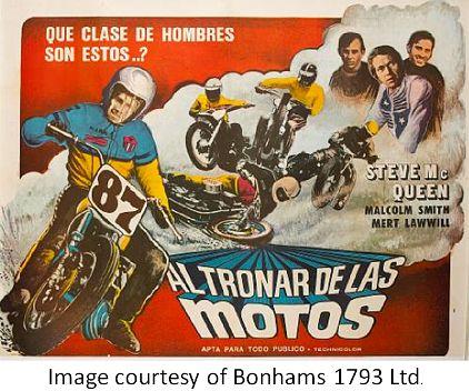 Steve McQueen Vintage Motorcycle Movie Poster | Film ...
