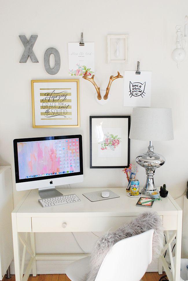 Lauren Elizabeth   a style + beauty blog: Apartment Tour: Office Space