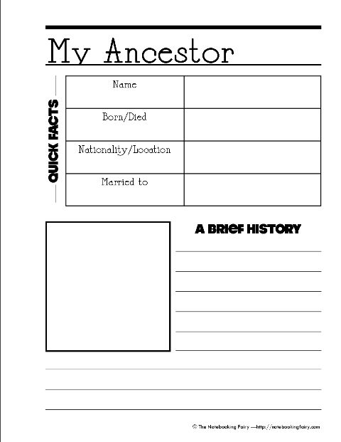 112 best images about genealogy for kids on pinterest family tree worksheet make a family. Black Bedroom Furniture Sets. Home Design Ideas