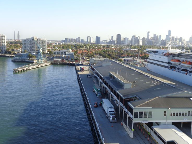 The Dawn Princess docking at Station Pier Port Melbourne Australia