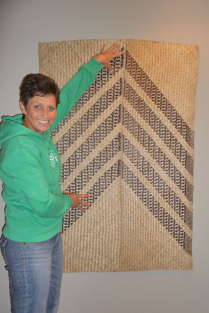 """""""NGAERE"""" One of my class projects for 2011 was a whariki (mat). It has over 600 whenu and took just over 60 hours to make, from harve..."""