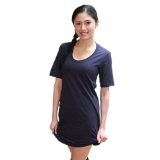YogaColors Fine Jersey Short Sleeve Crystal Crew Neck T-Shirt Dress RSA2314 (Apparel)By YogaColors