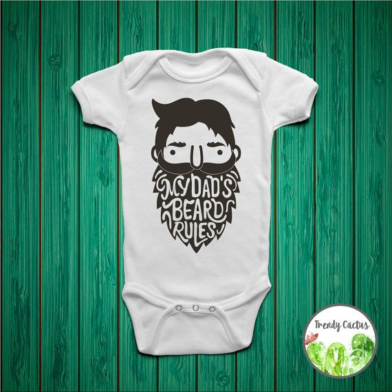 My Dad's Beard Rules, Kids Beard Shirt, Beard Onesie, Gift For New Dad, Baby Boy Onesie, Toddler Boy Shirt, Baby Boy Coming Home Outfit