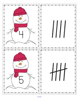 FREE This is a set of snowmen cards, numbered from 0-20, and a set of tally marks, from 0-20. Use to match the sets; as flash cards; for number or tally marks sequencing.                                                                                                                                                                                 More