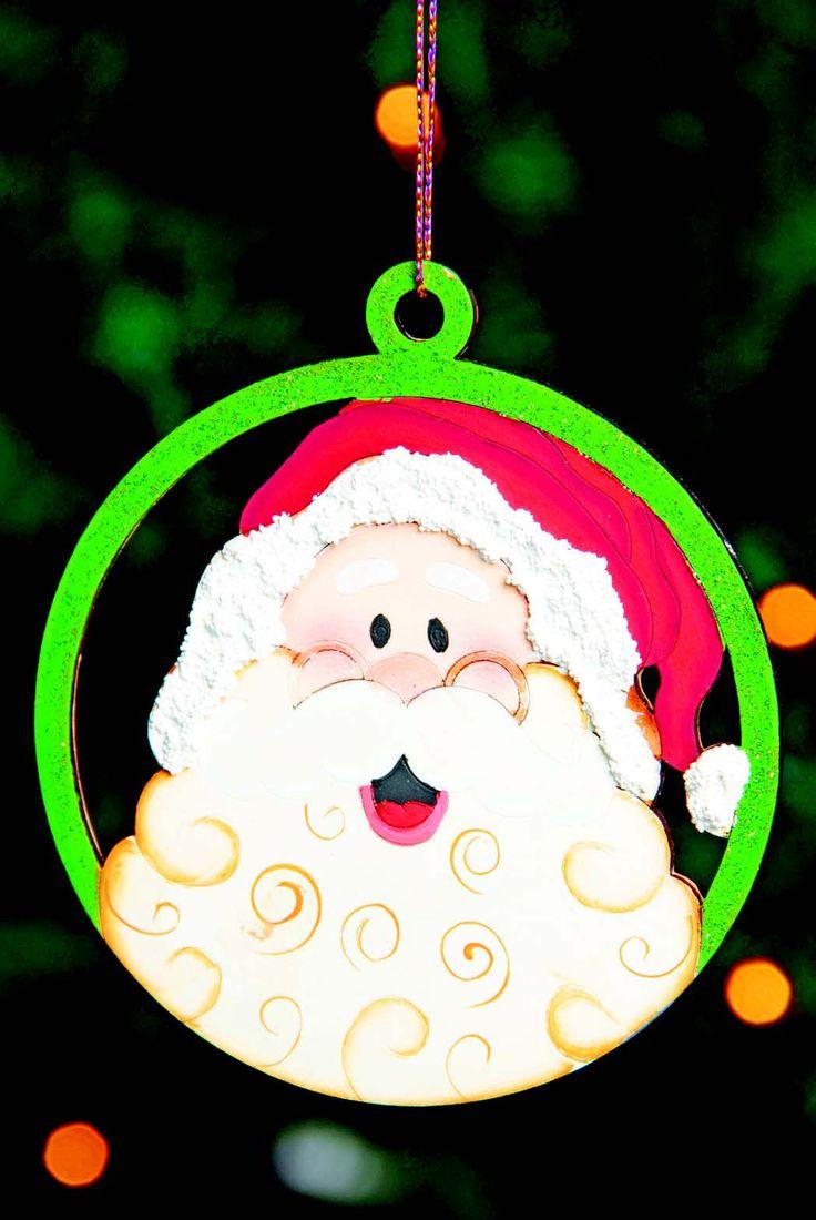 """Esferas para Árbol """"Santa"""" Revista Imagina y Crea. Magia, Luz y Color en esta Navidad."""