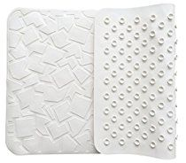 "[53% OFF - Sale Ends Dec 24] Non Slip Bathtub Mat - Non-Toxic (PVC- & BPA-Free), Anti Bacterial, Latex-Free Natural Rubber | Original GripTight (TM) Technology | 28"" x 16"", White"