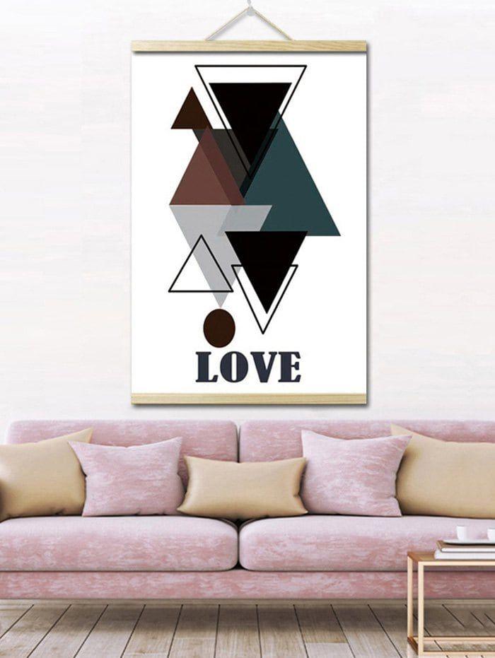 Geometric Love Print Wall Hanging Canvas Painting Hanging Paintings Wall Prints Hanging Art