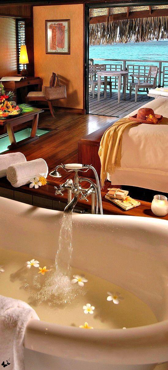 Hilton Moorea Lagoon Resort on Papetoai, French Polynesia • photo: Hilton Moorea #french #Polynesia #islands