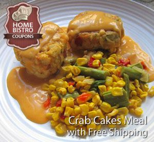 Home Bistro Crab Cake Prepared Meal with Free Shipping: http://www.prepared-meals.com/Meal-Delivery-Services/Home-Bistro-Reviews.html