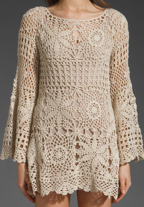 crocheted dress..cute