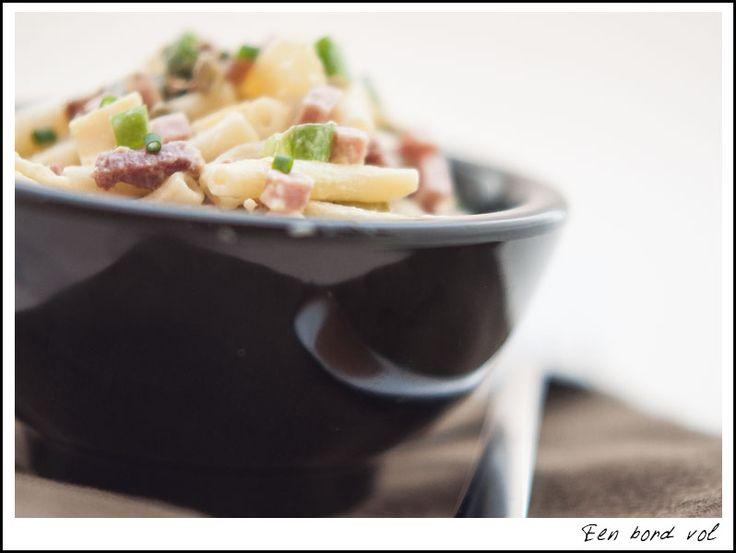 Hawaiiaanse pastasalade - Een bord vol !