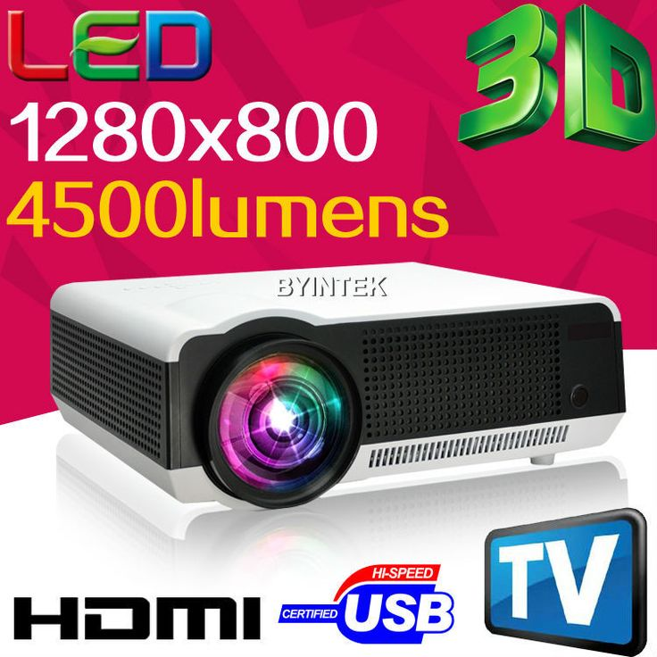 Домашний кинотеатр HD 1280 x 800 5500 Lumens 720 P 1080 P HDTV видео tft-hdmi USB жк-заднего из светодиодов 3d-проектор Proyector лучемет