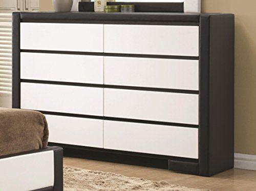 Coaster Home Furnishings Contemporary Dresser, White/Black