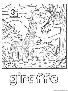 Animal Alphabet Coloring Pages Letters G L