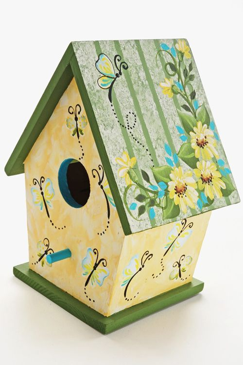 Craft Painting - Daisy and Butterfly Birdhouse