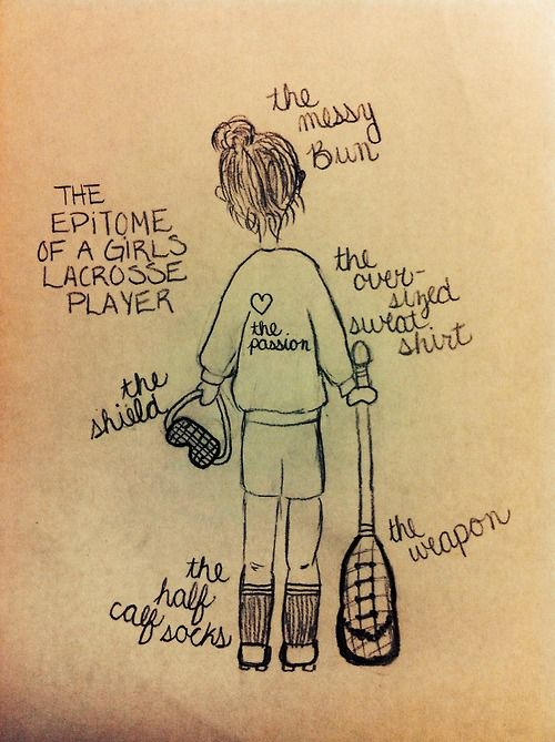 tr3cherous:  The epitome of a girls lacrosse player Drawn by Me; Bella Stevens