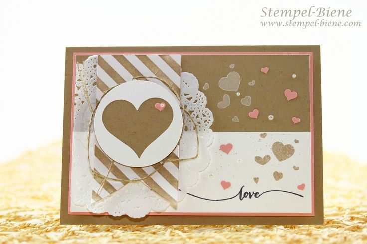 Stampin up Valentinstagskarte, Stampin Up Hello Life, Stampin Up Frühjahrskatalog 2015, Stampin Up Sommerkatalog 2015, Stempelparty Sale a bration, Stampin Up bestellen, Match the Sketch