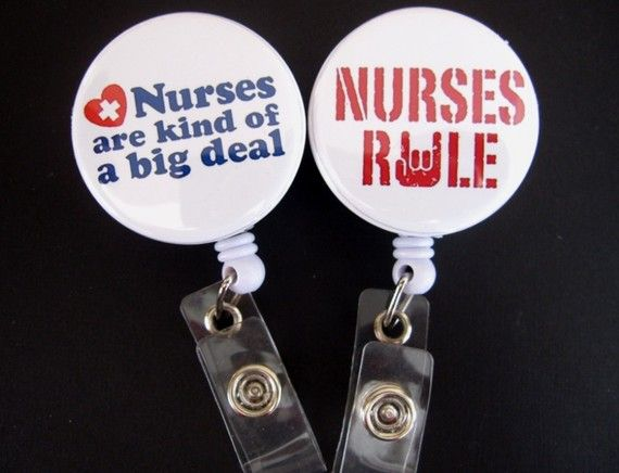 NURSE SAYINGS Retractable Badge Reel by PerfectlyPreppy on Etsy, $7.50