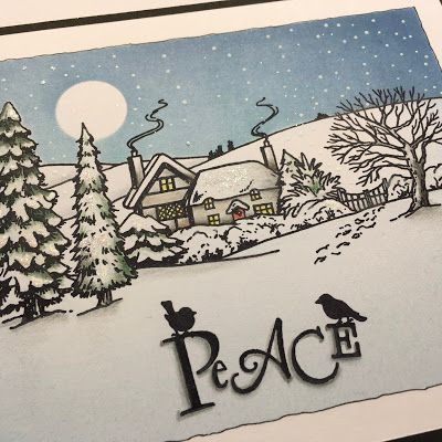 Barbara Gray's Blog. One Day at a Time.: A Wintery step by step Stamp Project xxx