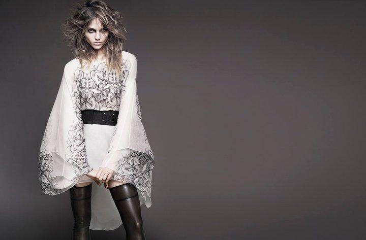 Sasha Pivovarova by Greg Kadel for Thomas Wylde Spring 2011 Campaign
