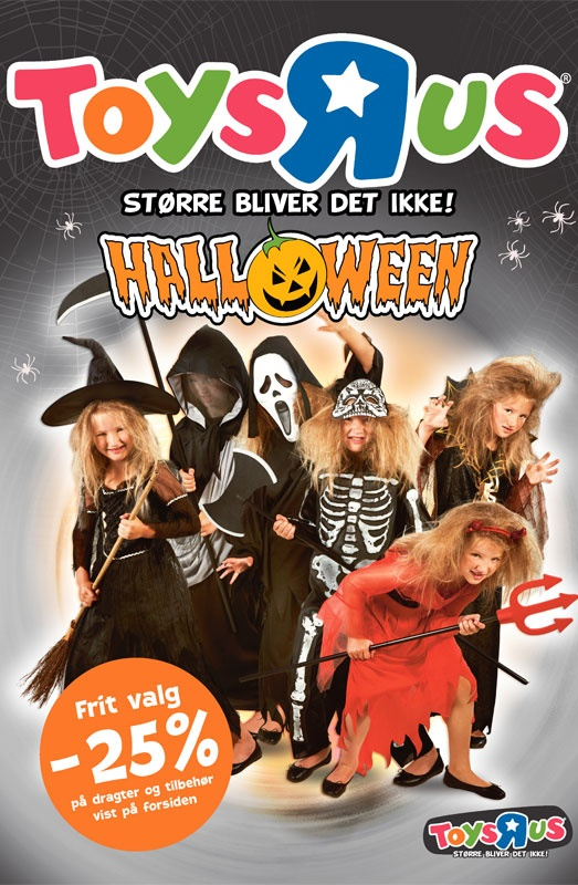 """Design of the cover page for the Halloween catalog Toys""""R""""Us in Denmark, Sweeden, Norway, Iceland."""