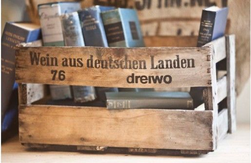 {FOUND Objects} German Wine Crate - Decor Steals~Enjoy Todays Steal from DECOR STEALS