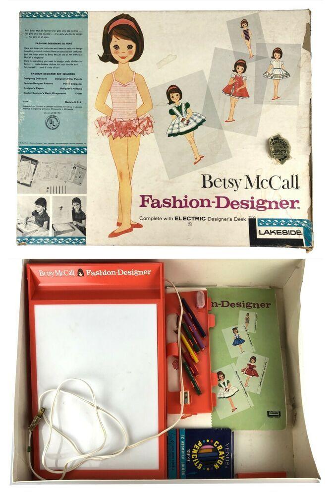Vintage 1960 S 1961 Betsy Mccall Fashion Designer Set Electric Light Desk More Lakeside Vintage Branding Paper Dolls Trinidad Tobago