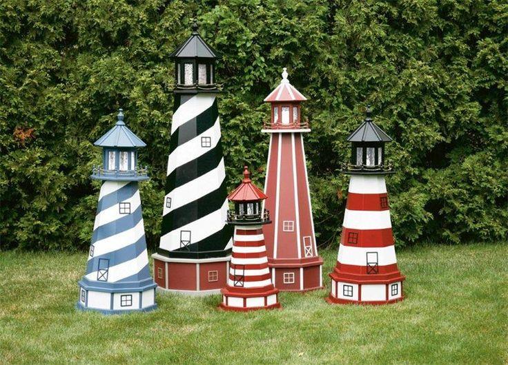 Amish Assateague VA Wooden Garden Lighthouse in 2019