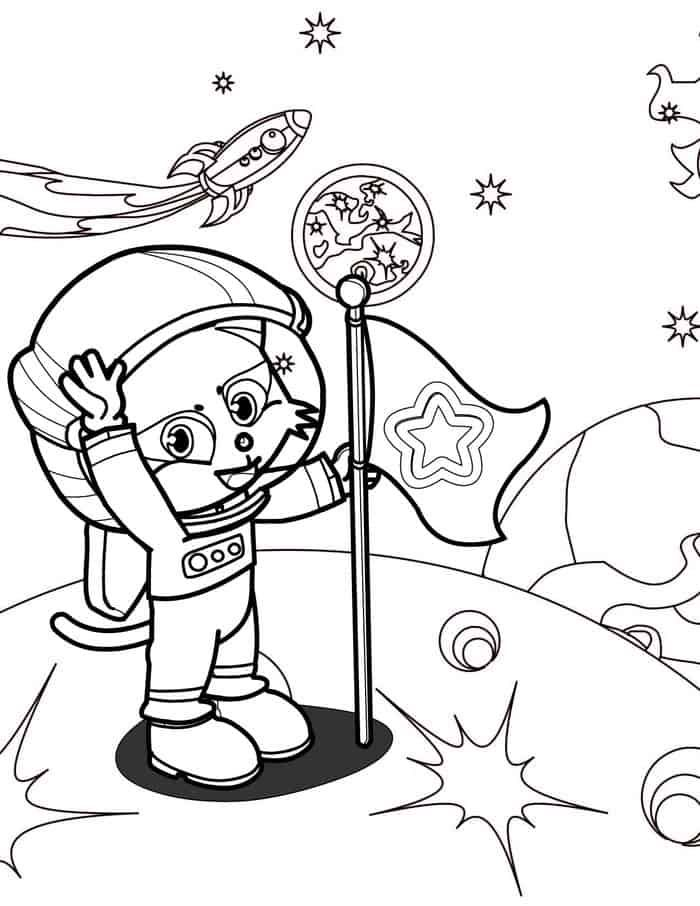 Preschool Coloring Pages Astronaut From Astronaut Coloring Pages