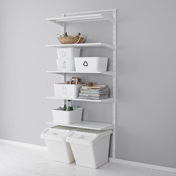 les 53 meilleures images du tableau ikea algot sur pinterest dressing vestiaire et appartements. Black Bedroom Furniture Sets. Home Design Ideas
