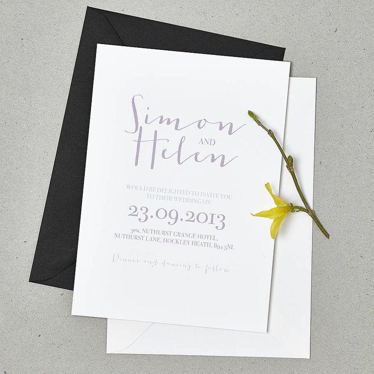 'love note' wedding stationery set by doodlelove | notonthehighstreet.com