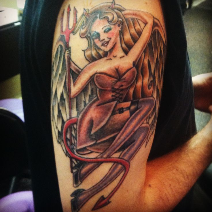A devilish pinup from our graduate jocelyn contact us for for How to email a tattoo artist
