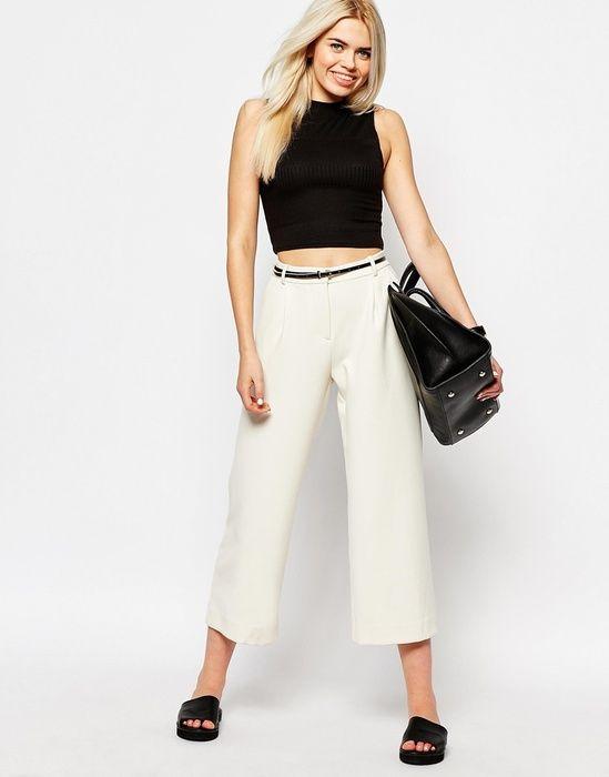 Строгие брюки с широкими штанинами , Monki, где купить: Monki